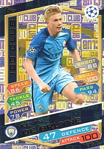 2016 17 MATCH ATTAX CHAMPIONS LEAGUE 100 CLUB KEVIN DE BRUYNE MANCHESTER CITY HUNDRED CLUB