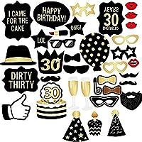 30. Geburtstag Party Foto Booth Props Für Männer Und Frauen 36 Stücke  Lustige Dekoration Accessoires