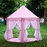 Blackpoolal Prinzessin Castle Spielzelt für Mädchen, Kinder Spielhaus Garten Indoor Outdoor (Pink)