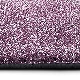 casa pura Shaggy Teppich Bali | weicher Hochflor Teppich für Wohnzimmer, Schlafzimmer und Kinderzimmer | mit GUT-Siegel | Verschiedene Größen | viele Moderne Farben (160 x 160 cm, lila)