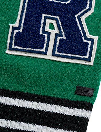 Replay Damen Pullover Grün (Emerald Green 864)
