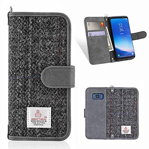 Galaxy S8Fall, monojoy Samsung S8Leder Geldbörse Fall, [Harris Tweed] PU...