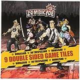 Zombicide: 9 Double Sided Game Tiles - Juego de tablero, 1 o más jugadores (Guillotine Games GUG0005) [Importado]