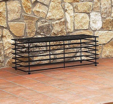 DanDiBo Bank Futura Modern Gartenbank 11670 Sitzbank 110 cm aus Metall Eisen Blumenbank - 3