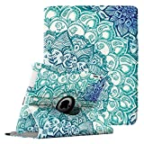 Fintie Hülle für iPad 2 / iPad 3/ iPad 4-360 Grad rotierende Ständer Schutzhülle Cover Case mit Auto Schlaf/Wach Funktion für Apple iPad 2,iPad 3 & iPad 4th Generation, smaragdblau