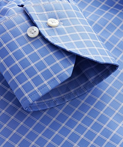 Stenstroms Hommes Slimline Checked Shirt Bleu Clair Bleu Clair