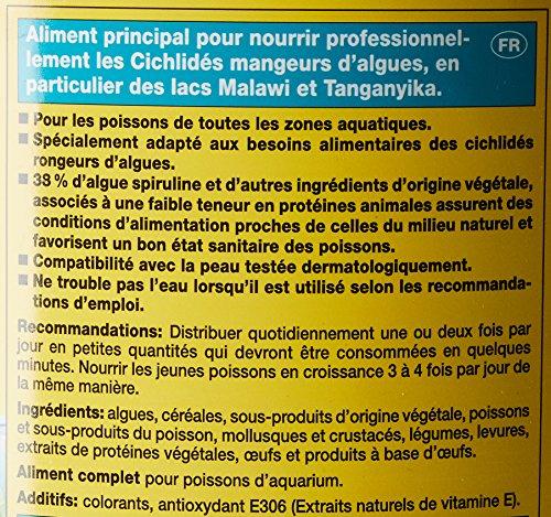 JBL NovoMalawi 30012 Alleinfutter für algenfressende Buntbarsche, Flocken 5,5 l - 3