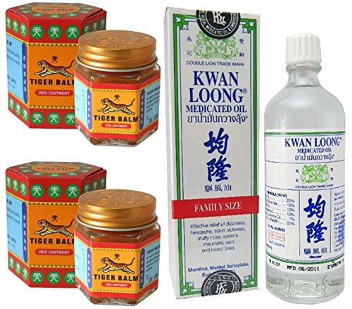 2schn-of-tiger-balm-red-ointment-30gm-jar-kwan-loong-medicated-oil-57ml-largest-size