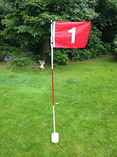 Set von 9JL Golf Backyard Garden Set Flagge Cup Loch Pin -