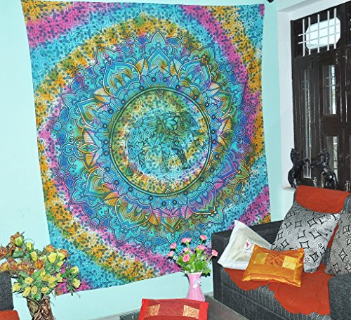 Populärer Hippie-böhmischer Krawatten-Färbungs-Tapisserie-Elefant-Mandala-Tapisserie-Wand-hängender Tapisserie Boho-Tapisserie-Hippie-Hippie-Tapisserie-Strand-Abdeckungs-Vorhang