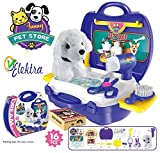Elektra Kids Bring Along Pet store Suitcase Toy Set - 16 Pieces