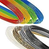 Großes Minadax 8 Farben multicolor Starterpack Set 8x50 Gramm hochwertiges 1,75 mm PLA-Filament hergestellt in Europa