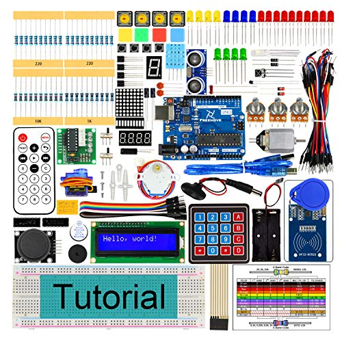 Freenove RFID Starter Kit V2.0 with UNO R3 (Arduino-Compatible), 252 Pages Detailed Tutorial, 198 Items, 49 Projects, Solderless Breadboard Electronic Technical Manual