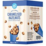 Marchio Amazon - Happy Belly Nocciole Caramellate, 120g x 4