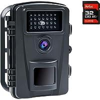COOLIFE 16MP 1080P HD Caméra de Chasse Vitesse de Déclenchement 0.2s et 27 pcs Infrarouges LED de 940nm, Camera de…