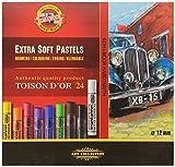 KOH-I-NOOR TOISON D'OR 8552 Extra weiche Künstler-Pastellkreiden (24 Stück)