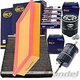 Filterset Inspektionskit 4 Beru Zündkerze 1 Luftfilter 1 Filter, Innenraumluft 1 Ölfilter 1 Kraftstofffilter 1 Verschlussschraube, Ölwanne