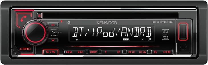 Kenwood KDC-BT520U CD-Receiver mit Apple iPod-Steuerung und Bluetooth-Freisprecheinrichtung Schwarz