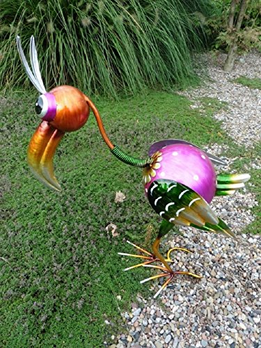 Dekovogel TUKAN aus Metall, 50 cm hoch, aufwendig verarbeitet Paradiesvogel Dekoration Gartenfigur Metallfigur
