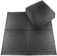 Esterilla Puzzle para Suelos de Gimnasio, Colchonetas de Fitness Juego de 20 Piezas 30 x 30 cm, Juego de Alfom