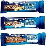 Multipower 50% Protein Bar 24 x 50g Riegel Mix-Box