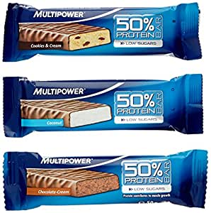 Multipower 50% Protein Bar 24 x 50g Riegel Mix-Box