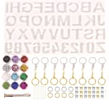 Kapmore 186PCS DIY Resin Jewelry Casting Silicone Molds Jewelry Making Kit Alphabet Jewelry Resin Mold Set