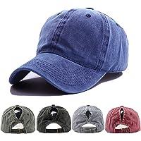 Yutdeng Berretto da Baseball Ponytail Estivo Tinta Unita Uomo Donna per Cappello Casuali da Baseball Cappellino con…
