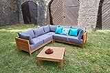 greemotion Lounge Set GOA-Loungemöbel aus Akazien Holz-Garnitur 3 teilig für Garten & Terrasse-Outdoor - 8