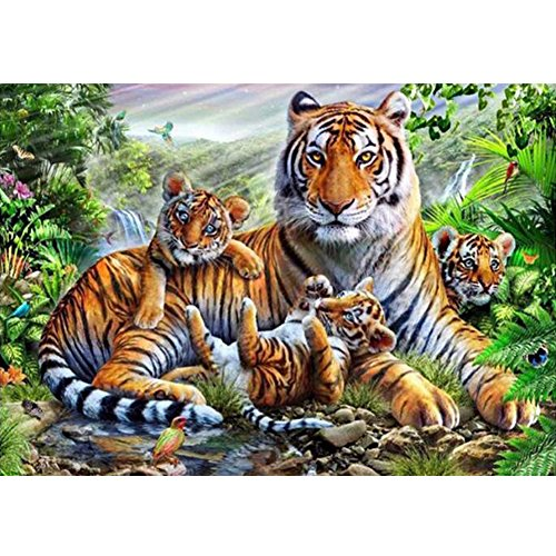 AIHOME 5D DIY Diamond Painting Tiger Diamond Mosaic Home Decoration Set Diamond Painting Kit