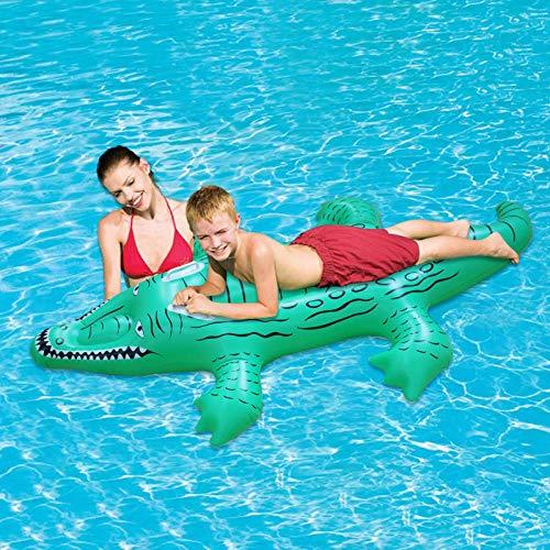 Ghc sedia a sdraio da piscina piscina letto galleggiante nuovo letto barca bambini adulti cuscino da nuoto coccodrillo gonfiabile galleggiante giochi d'acqua a remi