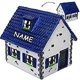 alles-meine GmbH große Spardose -  Traumhaus - Haus / Einfamilienhaus - Dach Blau  - inkl. NA..