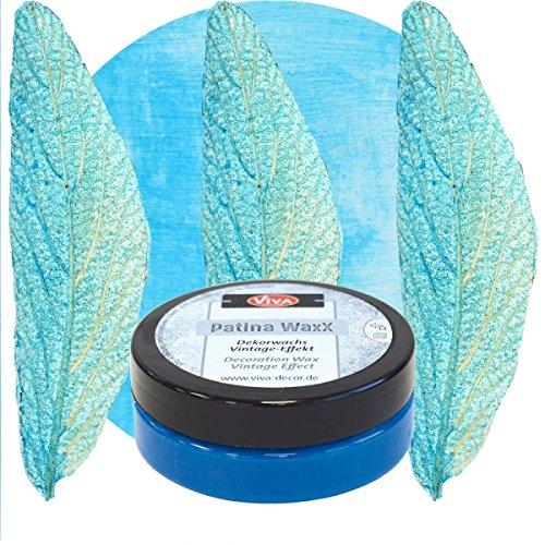 Patina WaxX 50ml -Blau- Viva Decor Vintage Finish Deko Farbe Dekowachs