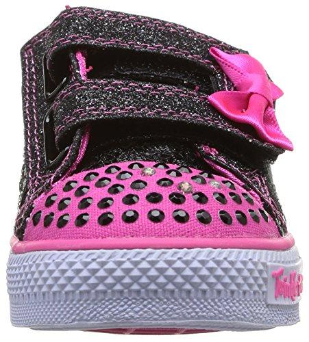 Skechers Shuffles Sweet Steps, Baskets mode fille Noir (Bkhp)