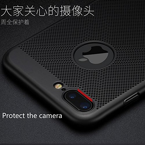 """XINRD Copertura posteriore in rete traspirante e proteggi schermo per Apple iPhone 6/6S da 4,7"""", nero"""
