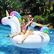 7fc292d57bfb infinitoo Gonfiabile Gigante Unicorno Giochi Cavalcabile Unicorno Estate Materassino  Gonfiabile Galleggiante per Nuoto in Piscina, Spiaggia e Mare per ...