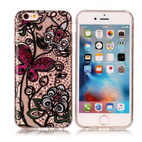 iPhone 6s Custodia, [Materiale flessibile TPU Gel trasparente del silicone Grip sottile e leggero ] Copertura iPhone 6S/6 Case 4.7, Shock Proof [ Cartoon Ananas ] # # 8