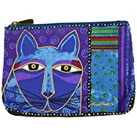 Laurel Burch Cosmetic Bag Zipper Top Assortment 9.25 x 6.75 inches, Whiskered Cats