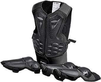 Magideal Kinder Protektoren Schutzset Protektorenjacke Schützer Für Ellenbogen Knie Schwarz Für Skateboard Radfahren Reiten Motocross Bekleidung