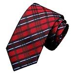 Voberry mens Classic Striped Tie Grid Necktie Tie Neck Tie Man'S Silk Tie Necktie