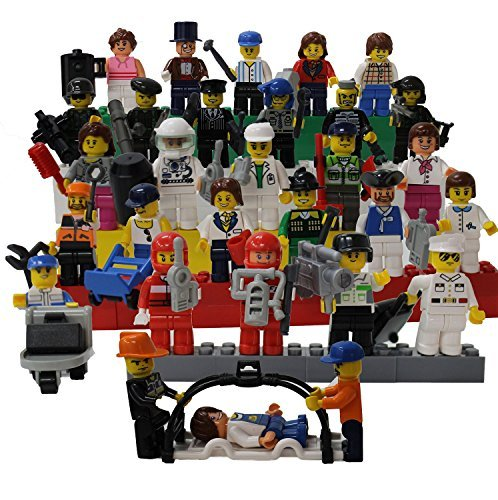 Smart-Builder-Toys-A-Set-Of-30-Family-And-Community-Figures-Over-40-Accessories-Compatible-With-All-Major-Brands