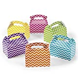 cama24com Geschenkboxen Faltboxen bunt mit Zackenmuster 12 Stück Für Mitgebsel und Gastgeschenke Palandi®
