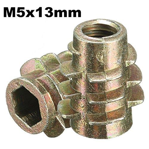 RanDal 5Pcs M5X13Mm Tornillo De Accionamiento Hexagonal En Inserto Roscado Para Tipo...