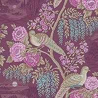 Holden Décor Sekiya Bird Floral Pattern Japanese Flower Motif Wallpaper 98171 from Holden Decor