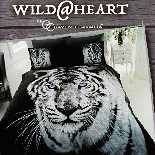 Gaveno Cavailia Premium colección 3d tigre blanco juego de funda de edredón y funda de almohada (poliéster,., multicolor, King