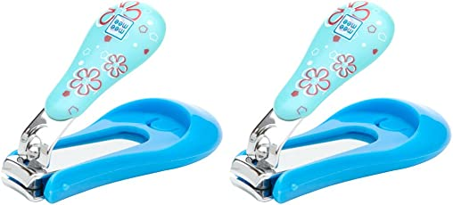 Mee Mee Gentle Nail Clipper with Skin Protector, Blue (Pack of 2)