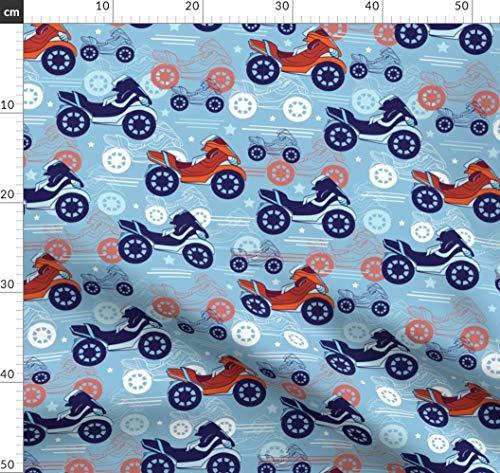 Motorrad, Intensiv, Stoffwindel, Männlich Stoffe - Individuell Bedruckt von Spoonflower - Design von Oksancia Gedruckt auf Baumwollstoff Klassik