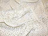 Latina Streifen Design Baumwolle Spitze Kleid Stoff Meterware, elfenbeinfarben + Frei Minerva Crafts Craft Guide