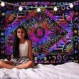 Future Handmade Wandteppich, Mandala, Sonne, Mond, Batik, Wandbehang, indischer, psychedelischer Hippie-Stil, Strandtuch, Überwurf, Bohemian-Stil, Tagesdecke, Größe 206x 140cm