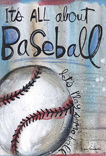 "Toland Home Garden All About Baseball Deko Sport/Spiel House Yard Flagge, S-12.5 x 18"""